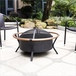 Crosley Yuma Copper Ring Firepit in Black