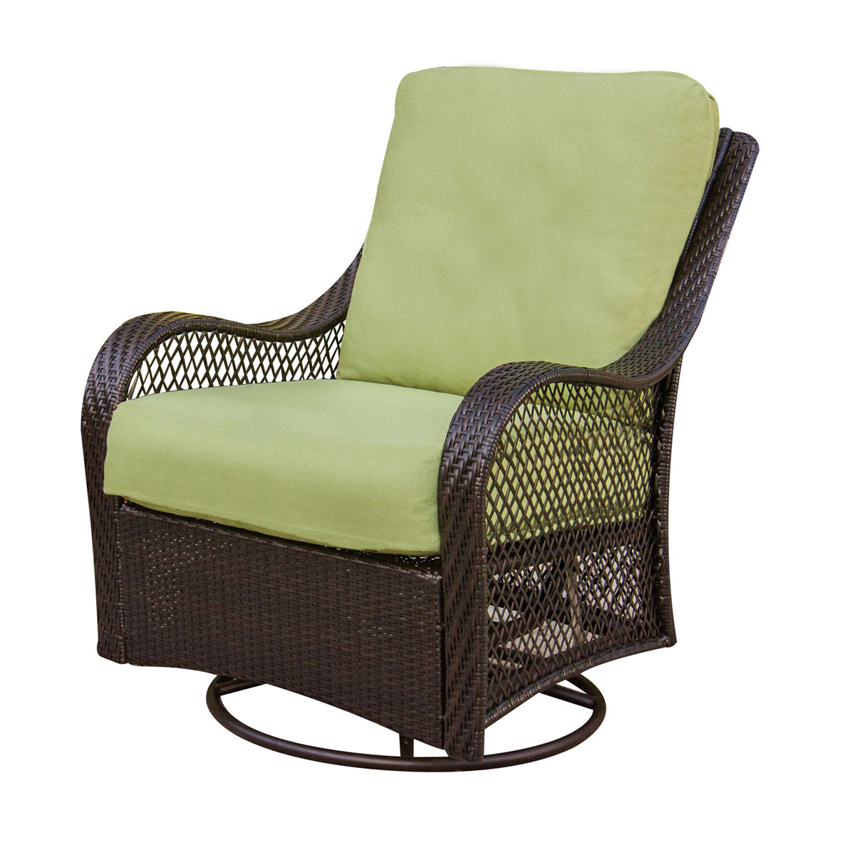 Hanover Orleans 3 Piece Wicker Chair Set With 2 Swivel