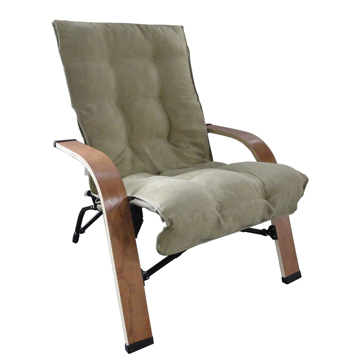 International Caravan Folding Chair with Wooden Arms FREE SHIPPING