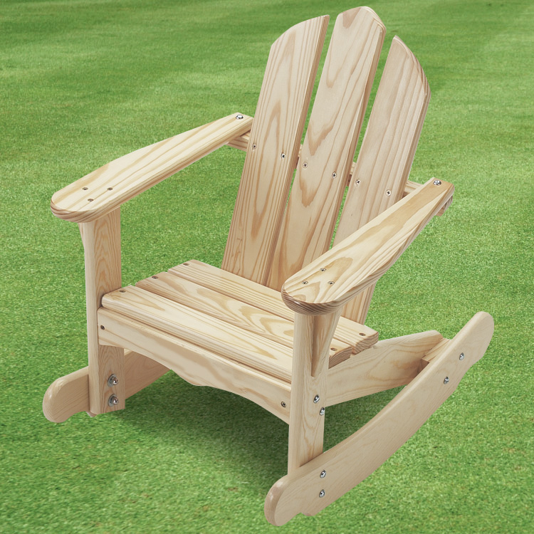 Beau Little Colorado Childu0027s Adirondack Rocking Chair In Unfinished Wood