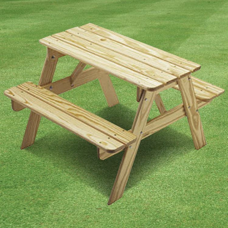 Little Colorado Childs Picnic Table Unfinished FREE SHIPPING - Unfinished wood picnic table