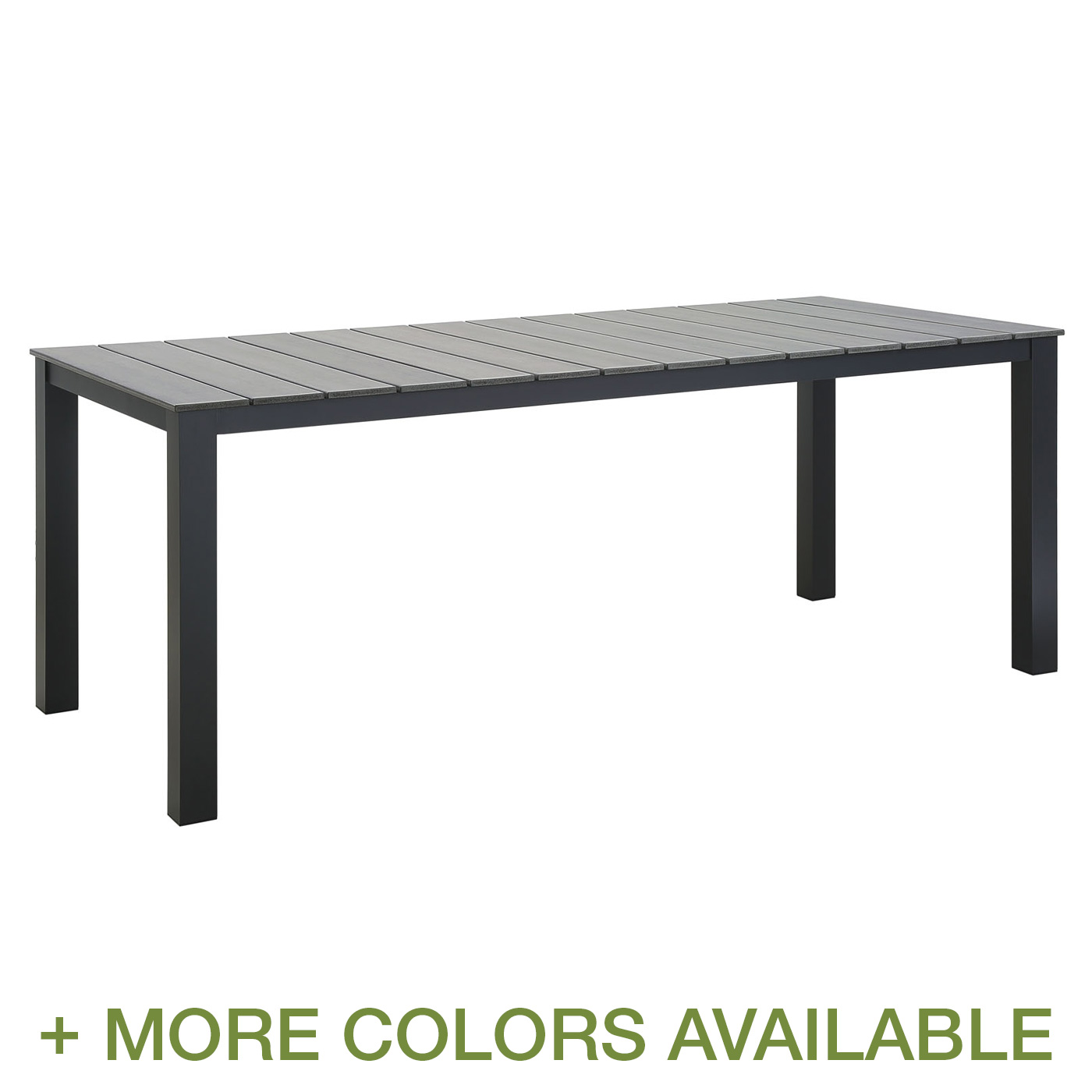 "Modway Maine 80"" Outdoor Patio Dining Table FREE SHIPPING"