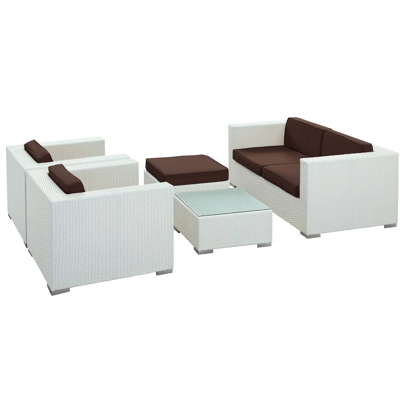 Modway Malibu 5 Piece Outdoor Patio Sofa Set FREE SHIPPING