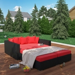 Modway Palisades 4 Piece Outdoor Patio Daybed