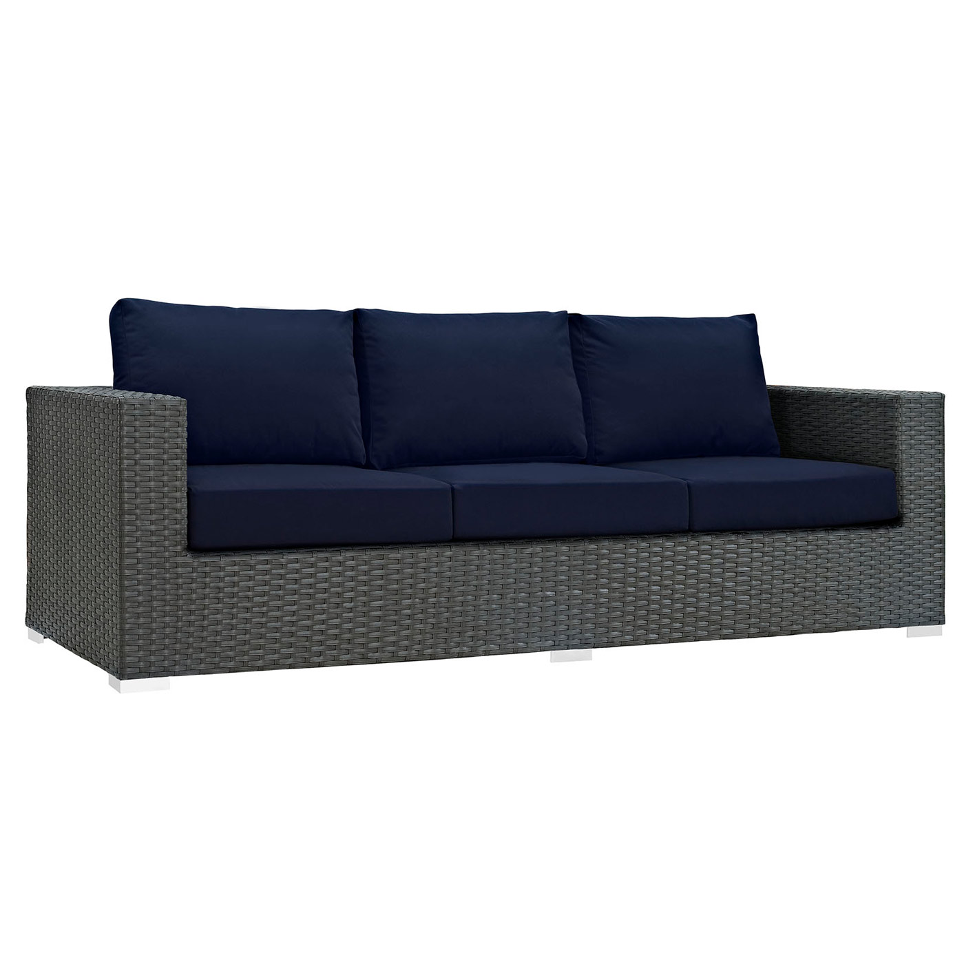Modway Sojourn Outdoor Patio Sofa with Cushion ... - Modway Sojourn Outdoor Patio Sofa With Cushion FREE SHIPPING