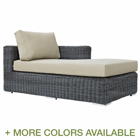 Modway Summon Outdoor Patio Right Arm Chaise
