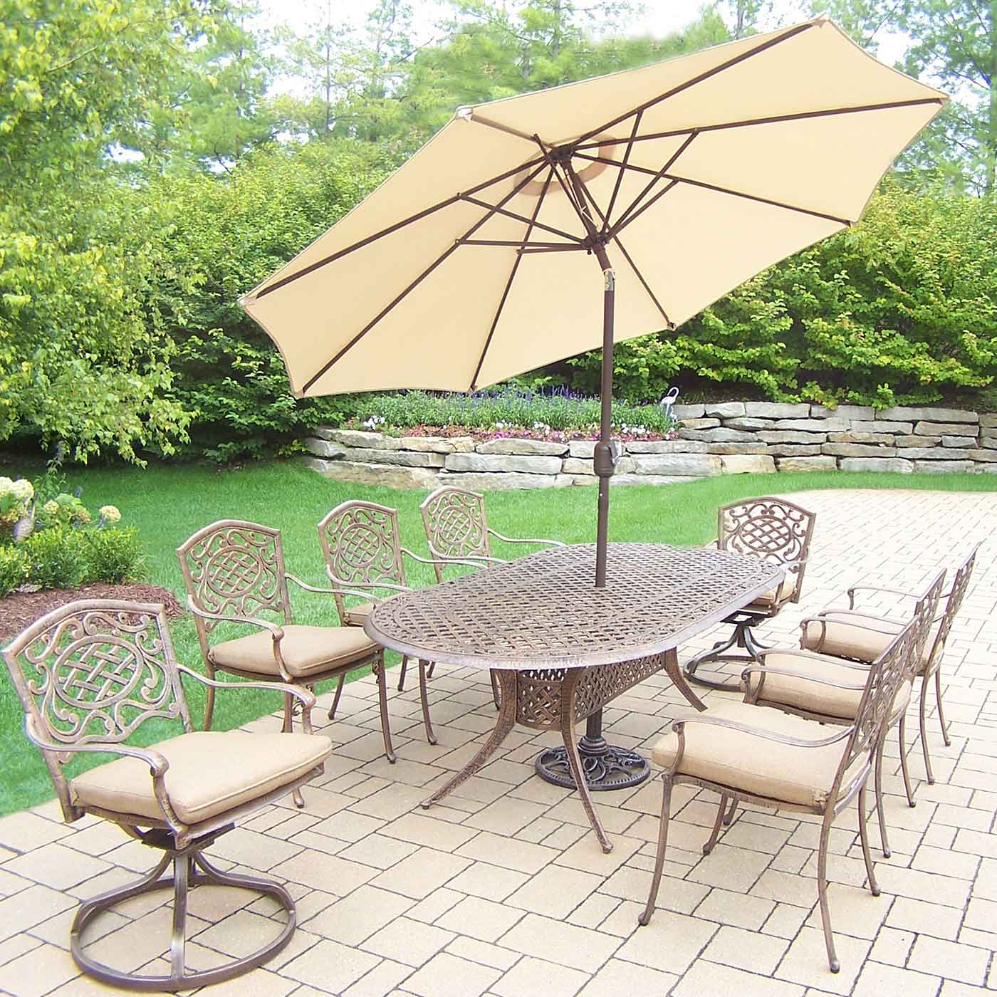 zm large base oval dining to cast woodard aluminum table delphi zoom hover patio