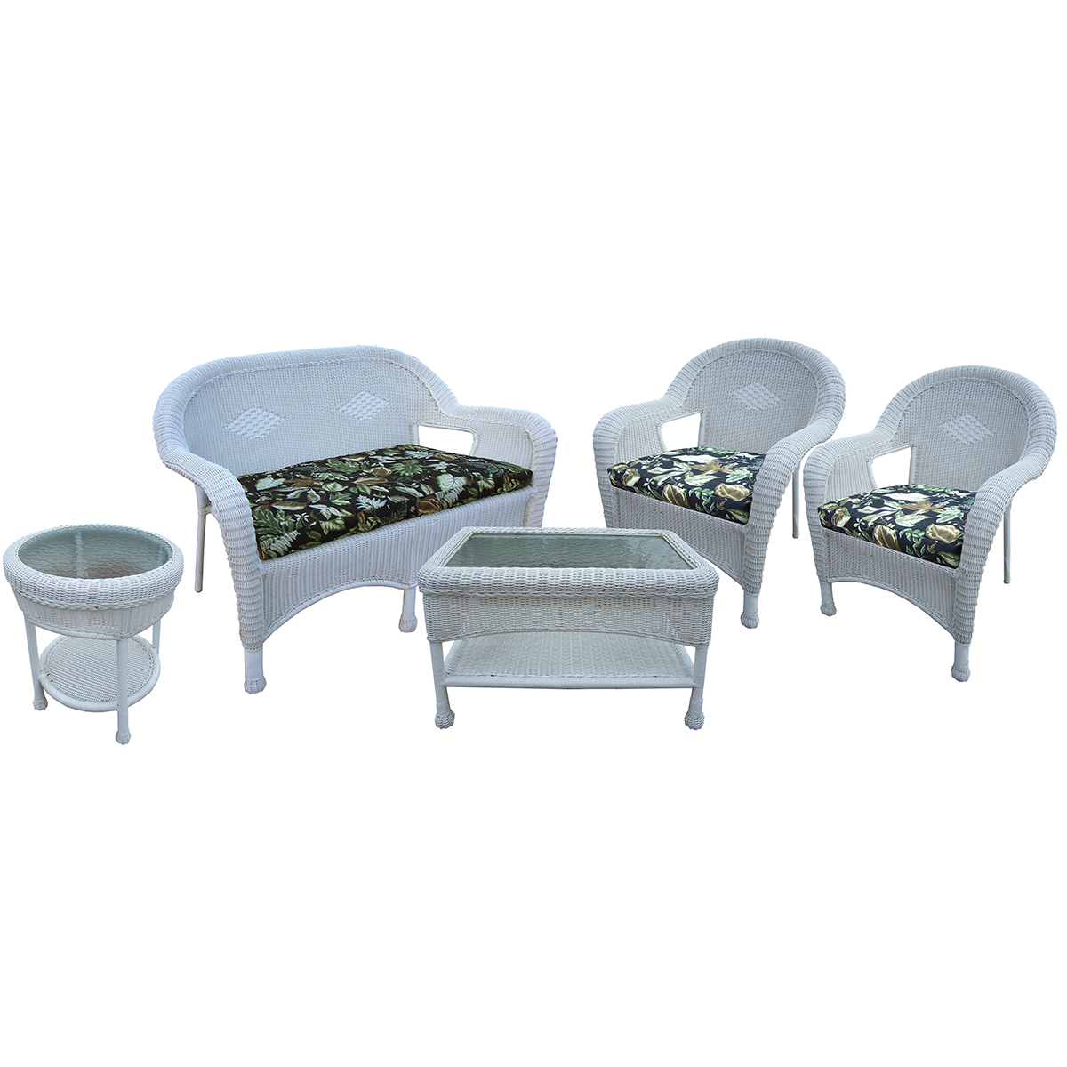 Oakland Living Resin Wicker 5 Pc. Seating Set With