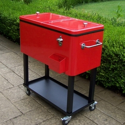 portable bhp beer cart outdoor party patio rolling ebay coolers chest cooler beverage ice
