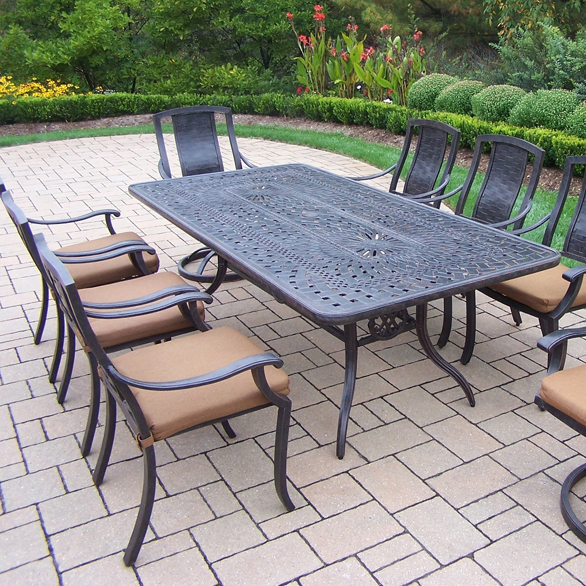 with nesting dining outdoor ottoman weatherproof wicker indoor piece patio w cushion set garden furniture a products since