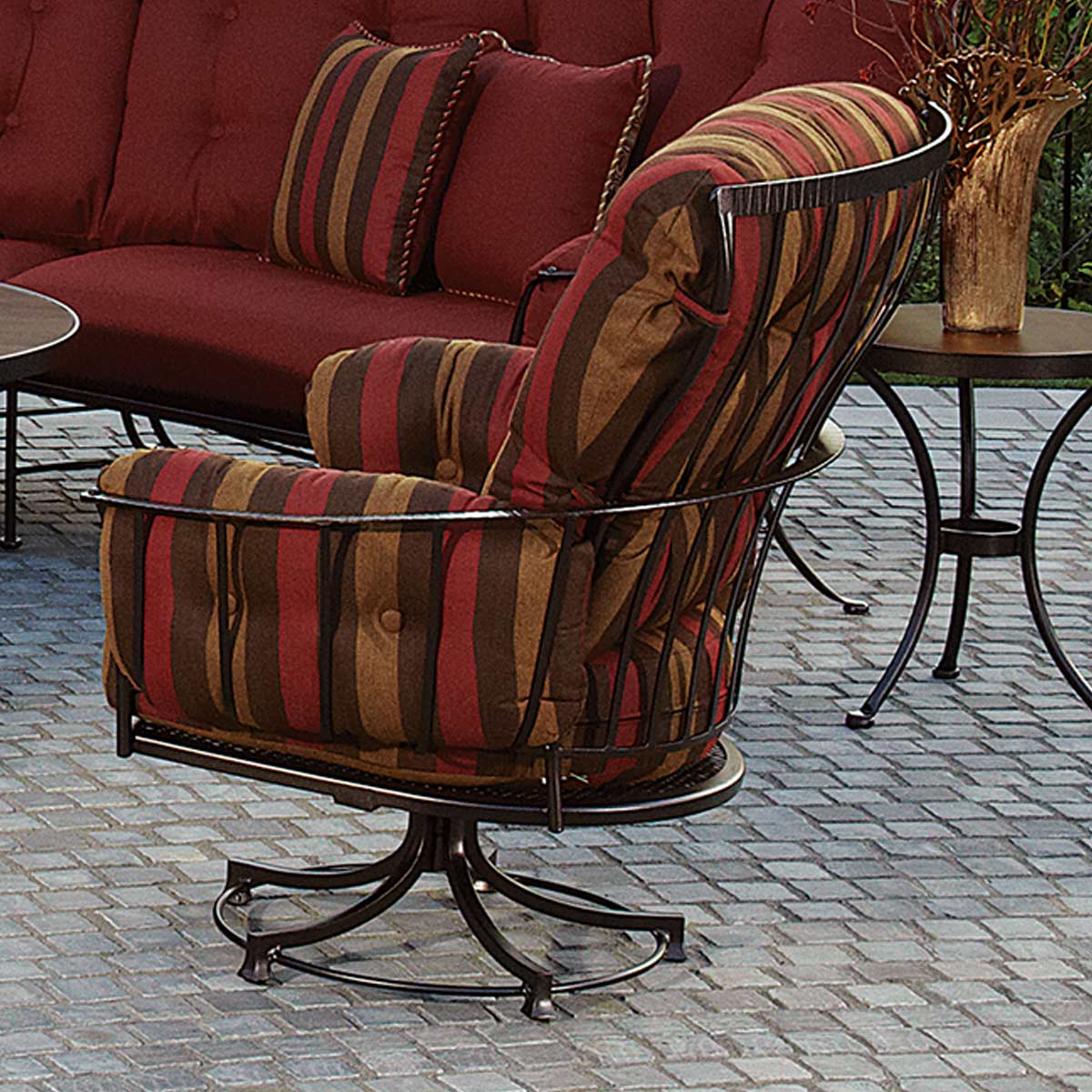 ... OW Lee Monterra Club Swivel Rocker Dining Arm Chair ...