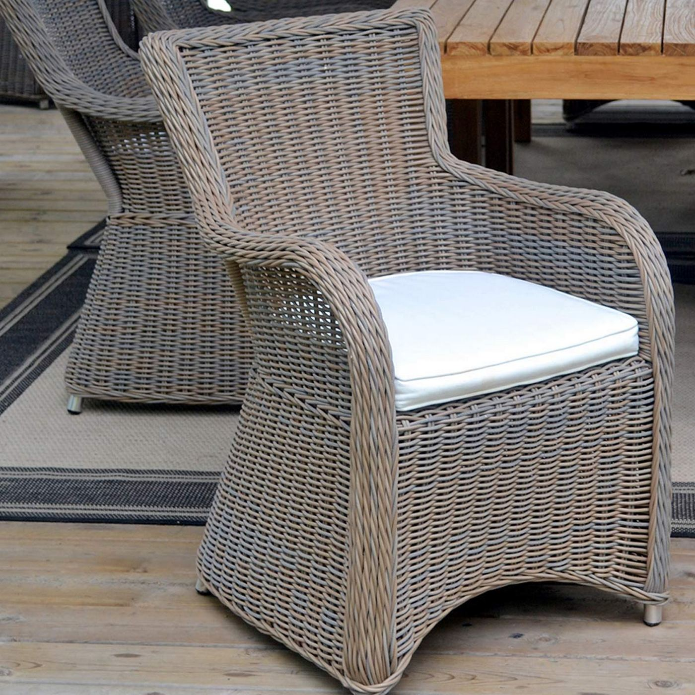 Padmau0027s Plantation Krista Dining Chair In Outdoor Kubu Grey