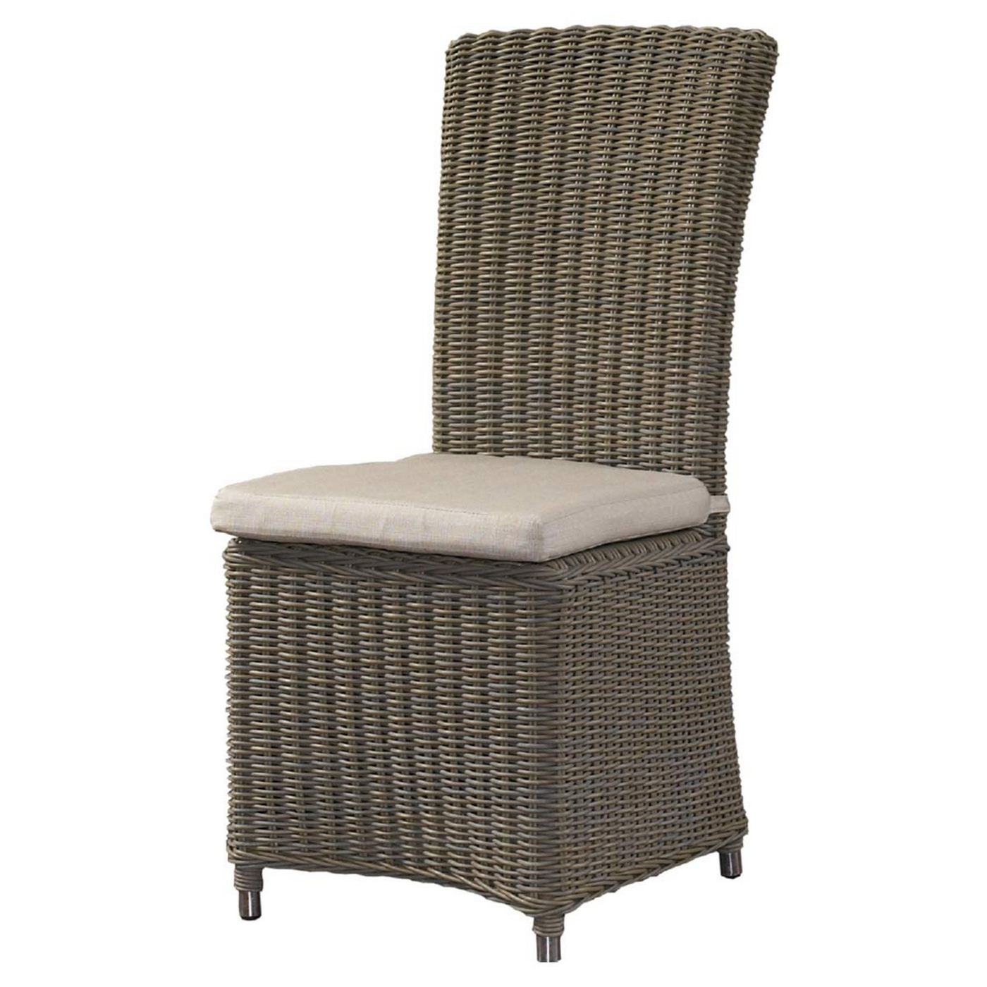 Padmau0027s Plantation Outdoor Nico Dining Chair In Kubu Grey