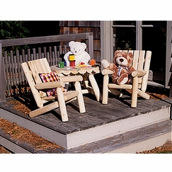 Rustic Cedar Junior Log Chair