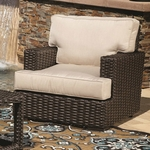 Sunset West Cardiff Club Chair with Cushions in Rich Walnut