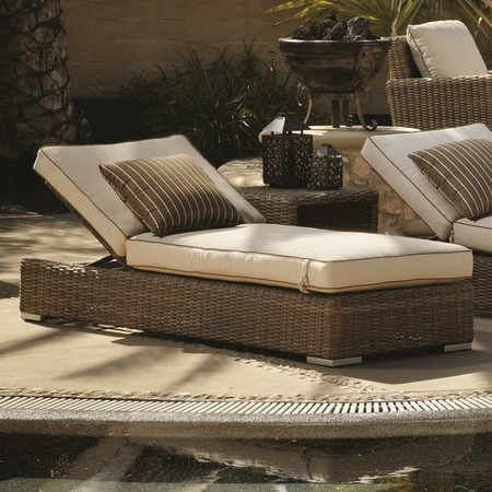 Sunset West Coronado Adjustable Chaise with Cushions in Driftwood