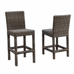 Sunset West Coronado Barstool with Cushions in Driftwood