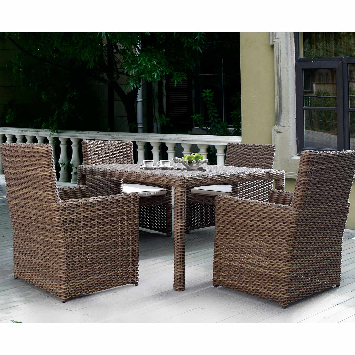 Sunset West Coronado Dining Chair With Cushions In Driftwood