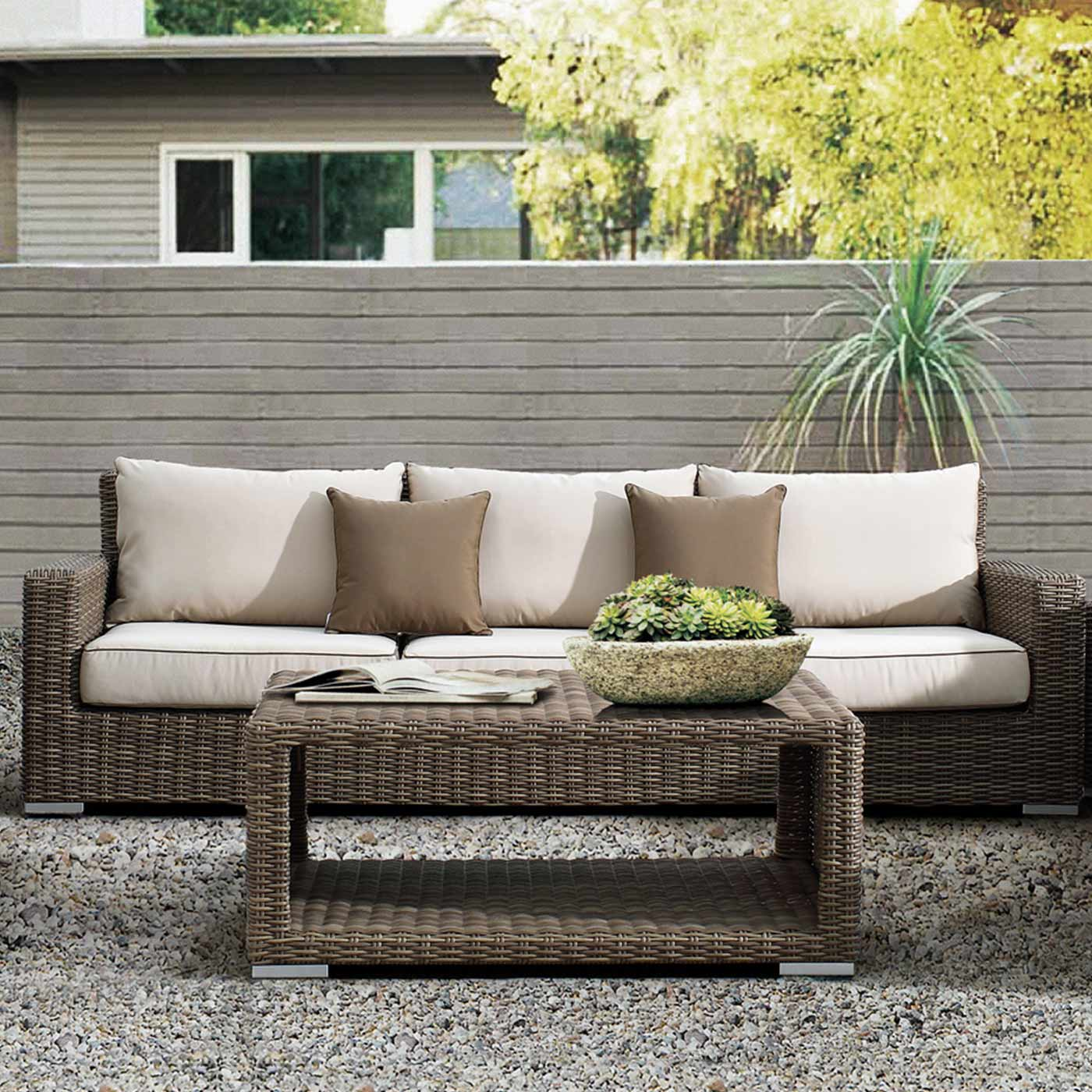Sunset West Coronado Sofa With Cushions In Driftwood