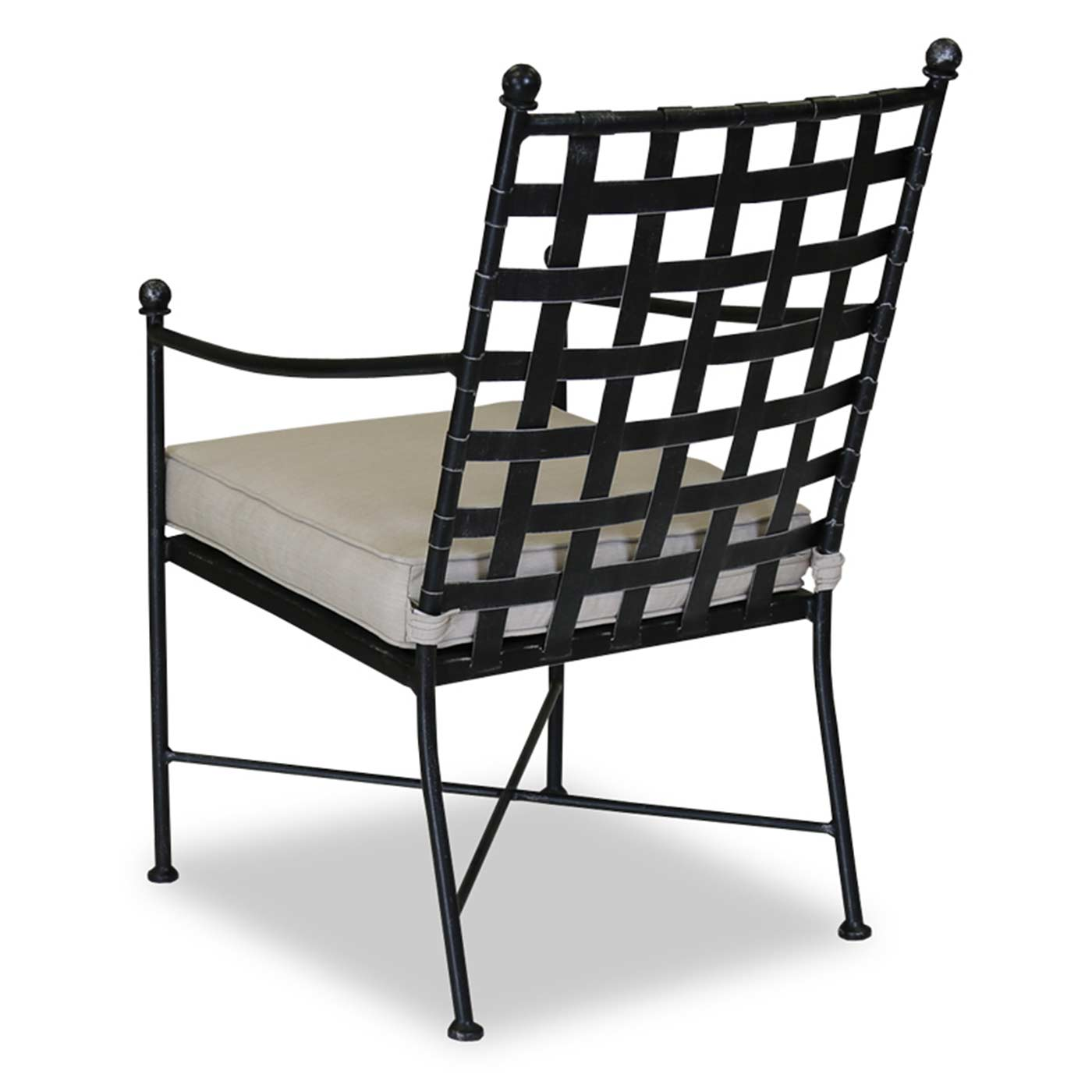 sunset west provence dining chair with cushions in century pewter