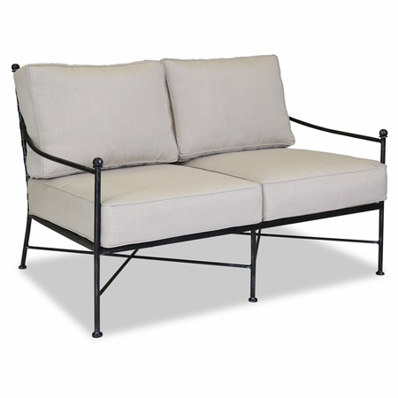 Sunset West Provence Loveseat with Cushions in Century Pewter