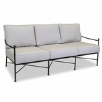 Sunset West Provence Sofa with Cushions in Century Pewter