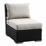 Sunset West Solana Armless Club with Cushions in Chocolate