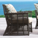 Sunset West Venice Club Chair with Cushions in Chocolate