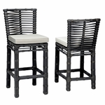 Sunset West Venice Counter Stool with Cushions in Chocolate