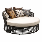 Sunset West Venice Double Chaise with Cushions in Chocolate