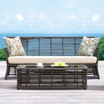 Sunset West Venice Sofa with Cushions in Chocolate