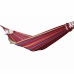 Vivere Brazilian Style Single Hammock in Regal Red