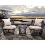 Zuo Stanley Patio Stacking Set Brown