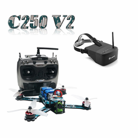 Free shipping!ARRIS C250 V2 RTF w/AT9 and EV800 FPV Goggle