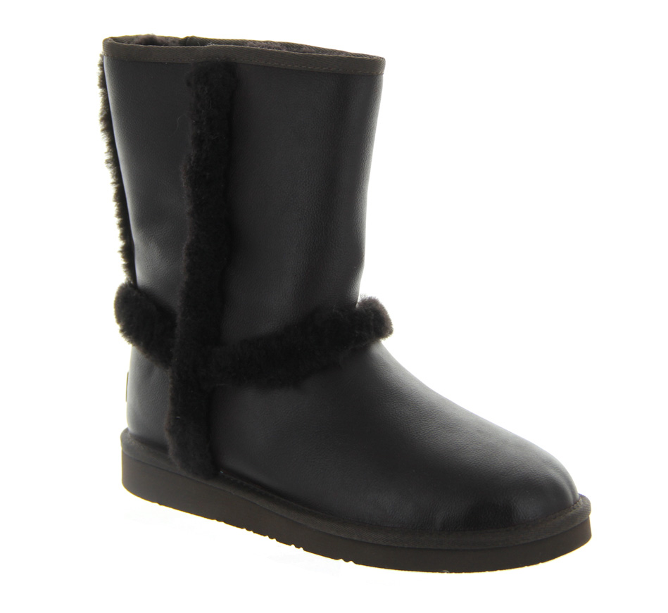 ugg leather sneaker boots