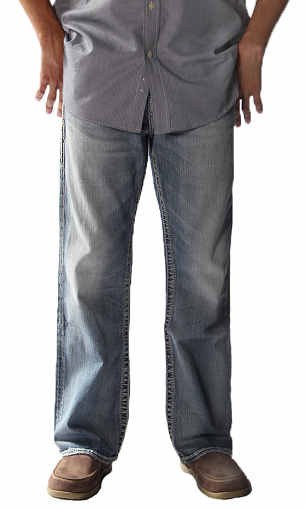 Grayson Men&39s Woven Denim Jeans in Indigo by Silver Jeans Company