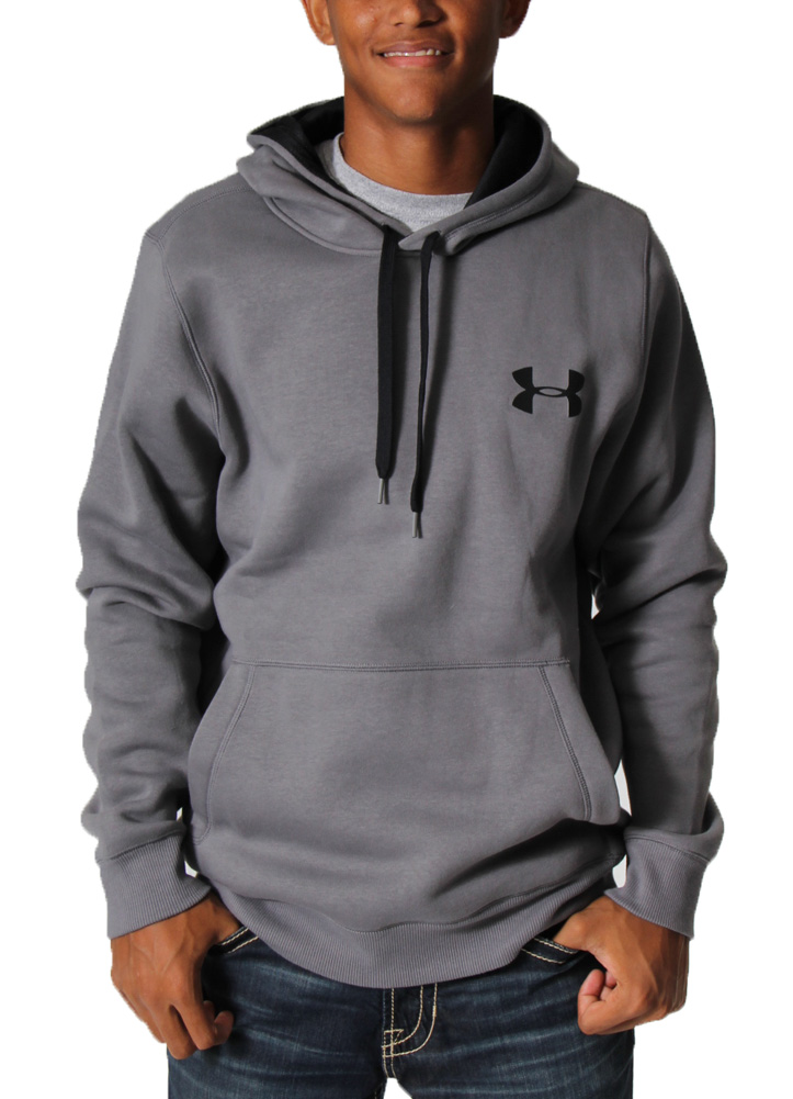 Men's UA Rival Cotton Hoodie in Graphite by Under Armour - Under ...
