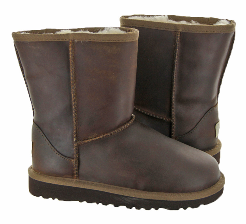 classic short leather uggs