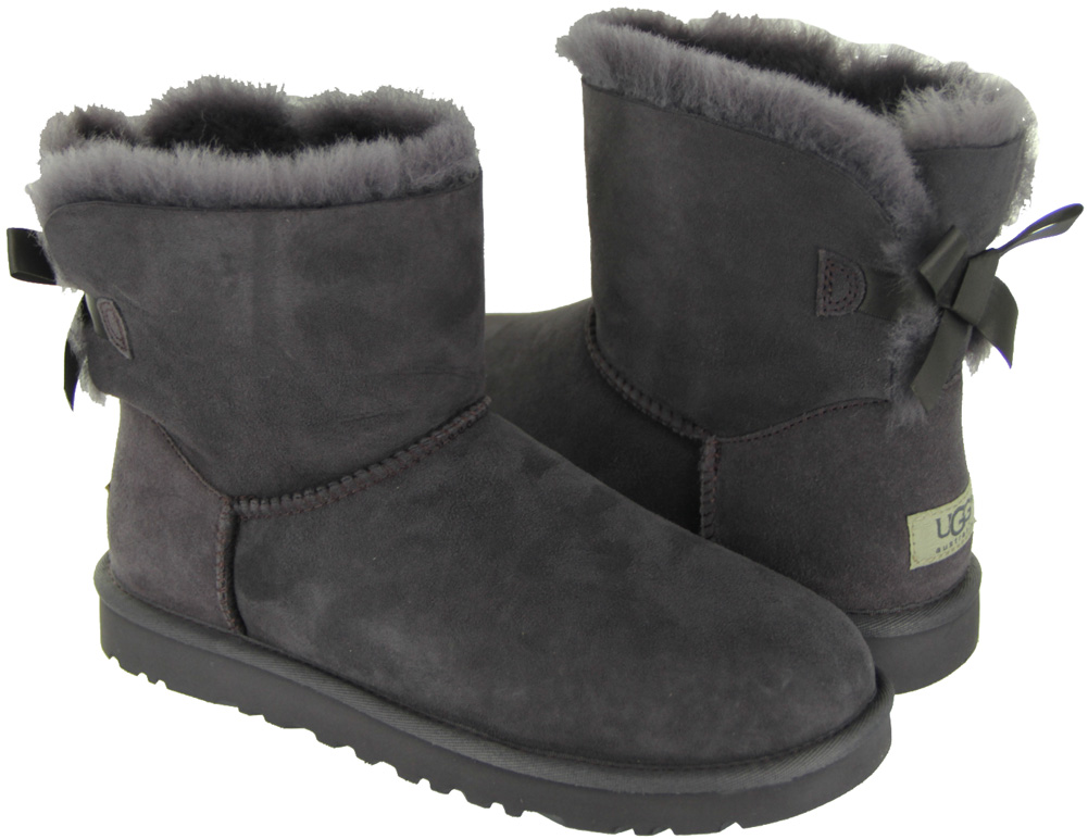 ugg womens bailey bow grey