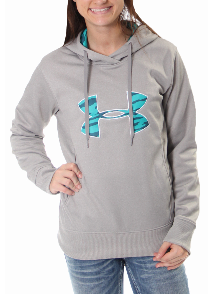 e5810de26 grey and pink under armour hoodie