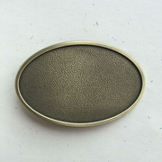 New Original Vintage Bronze Plated Oval Striae Blank Belt Buckle Gurtelschnalle Boucle de ceinture