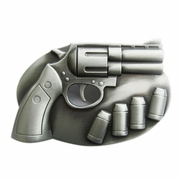 New Vintage Cut Out Revolver With Bullets Belt Buckle Gurtelschnalle Boucle de ceinture BUCKLE-GU010