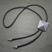 New Silver Plating Geometric Patterns Bolo Tie