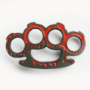 Original Enamel Four Rings 3D Belt Buckle Gurtelschnalle Boucle de ceinture