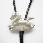 Original Silver Plated Running Horse Bolo Tie