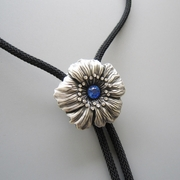 Rhinestones Original Dream Flower Wedding Necklace Bolo Tie