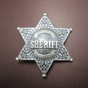Silver Plated Western Star Sheriff Belt Buckle