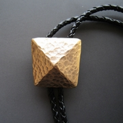 Vintage Gold Plated Geometric Patterns Bolo Tie