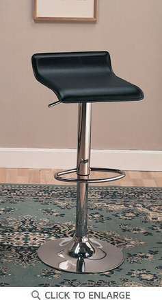 2 Black Adjustable Height Metal Bar Stools Chairs by Coaster - 120390