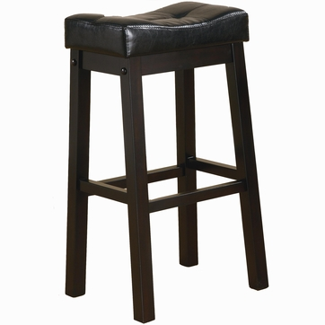 2 Brown Cherry Backless Bar Stools by Coaster - 120520